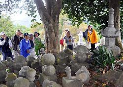 福知山城築城にまつわる話が伝わる野際墓地
