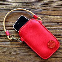 鹿革携帯ケース