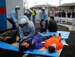 救急隊員の特別訓練