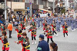 福知山踊りのパレード
