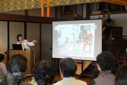 大興寺で講演する榎原さん