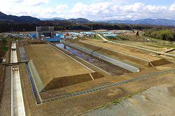 相長川の工事現場