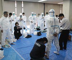 鳥インフルエンザ防疫訓練