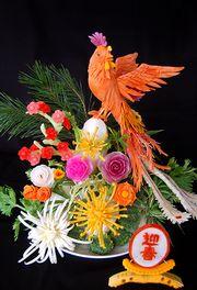 野菜で作られた大鳥