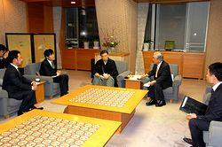 京都府内5地域紙の代表と山田知事