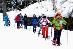 「スノーシュー」を履いて雪上歩き