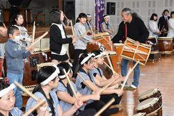 喜多郎さんと生徒たち