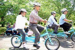 サイクリングを楽しむ視覚障害