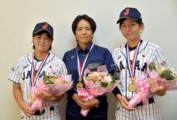 阿部選手、長野監督、大野投手