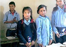 シャンの小学生たち