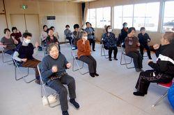 前田教育集会所での健康体操