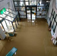 総合会館も浸水