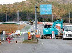 工事が進む戸田橋